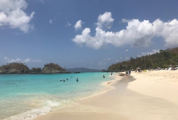Trunk Bay, praia nas Ilhas Virgens.